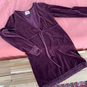 Juicy Couture Purple Velvet Mini Dress